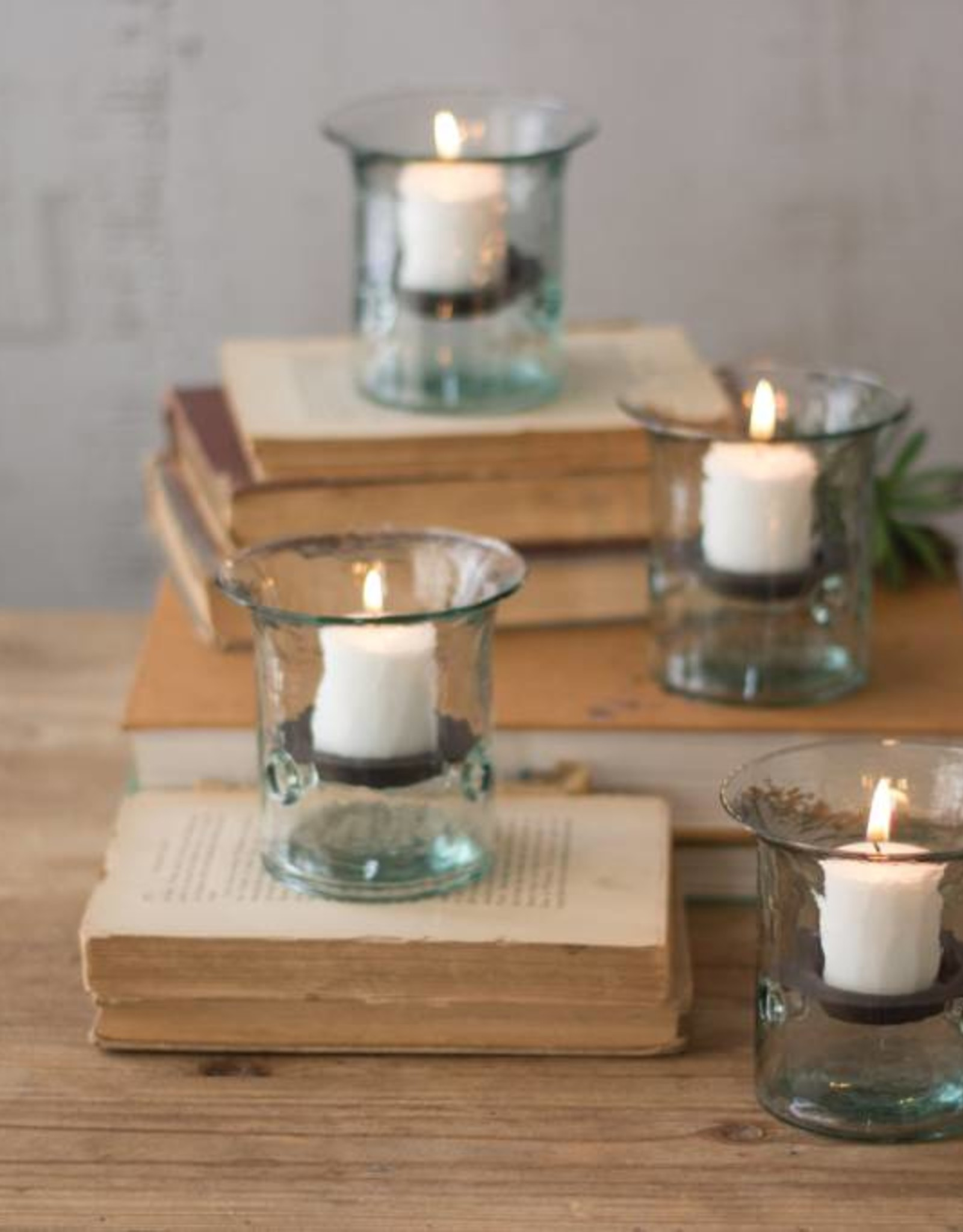 Recycled Glass Mini-Votives (Set of 4)