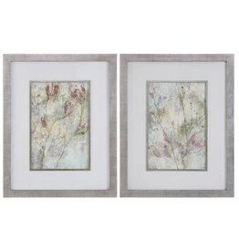 Flower Dreams Pastel Prints S/2