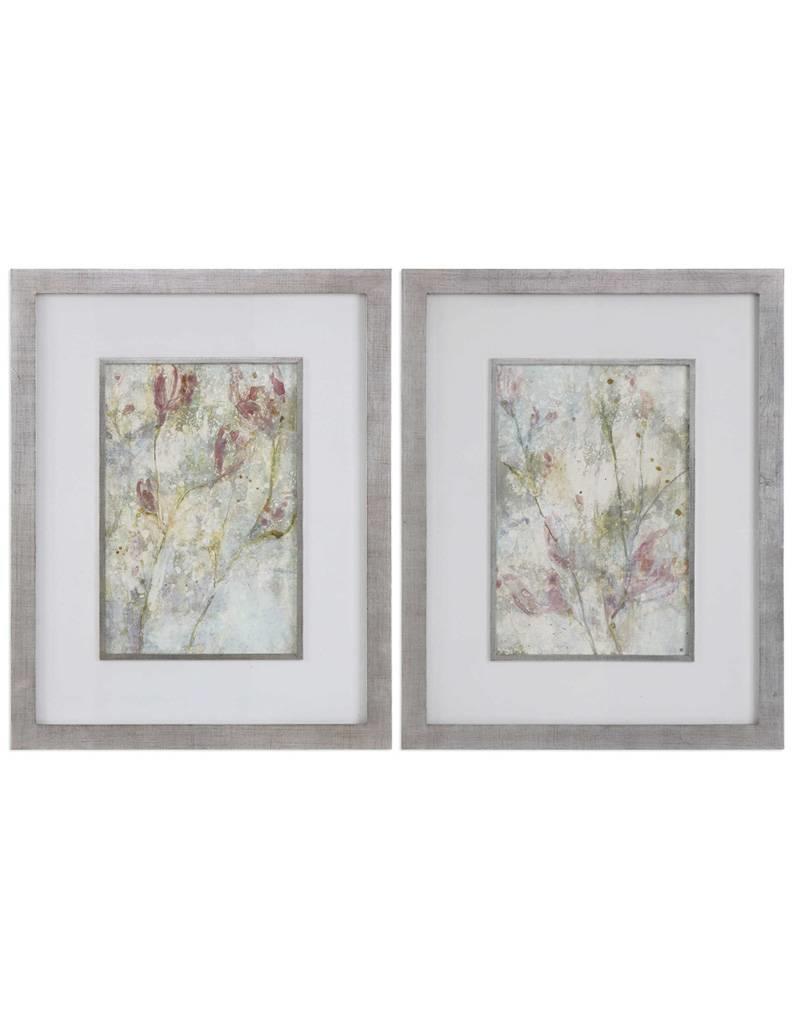 Flower Dreams Pastel Prints S/2