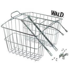 WaldMFG WLD 520 Rear Rack & Baskets 13.5x6.25x11 Chrome