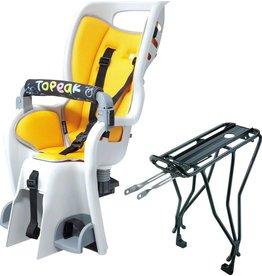 Topeak TPK BabySeat II w/ Disc Rack Grey/Yellow Pad