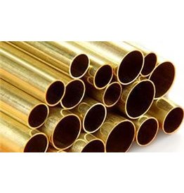 "K & S Metals KS round brass tube 3/32"""