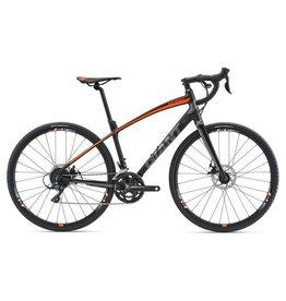 Giant AnyRoad 2 L Matte Black/Neon Orange/Grey