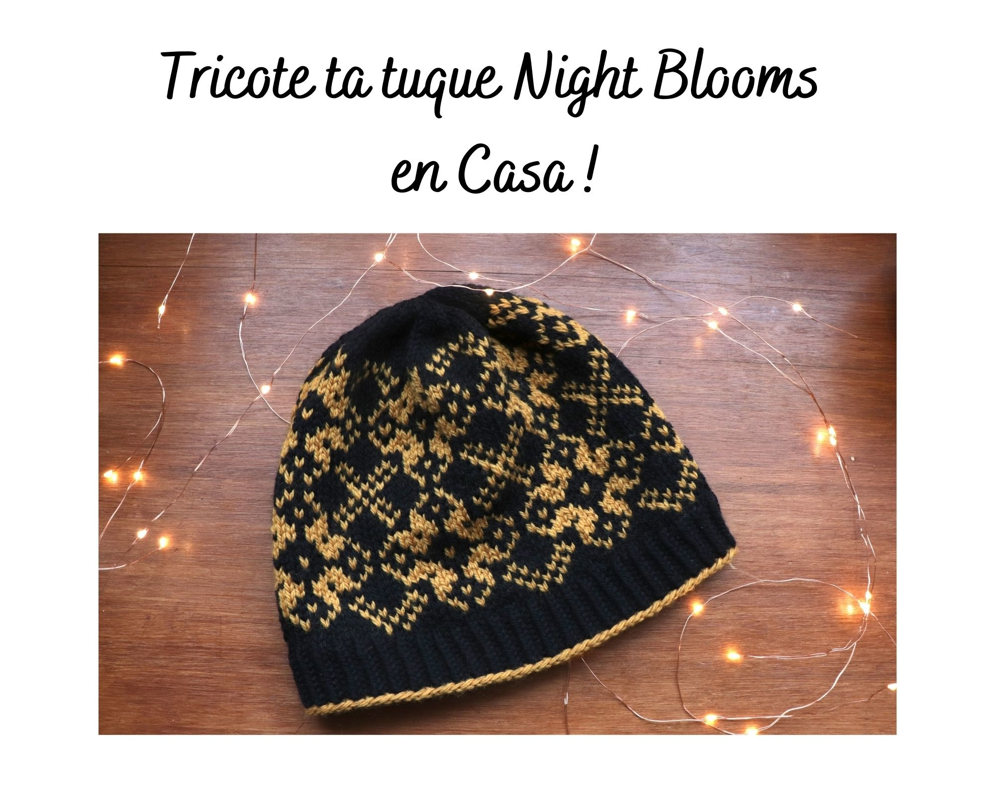 Tricote Ta tuque Night Blooms en Casa