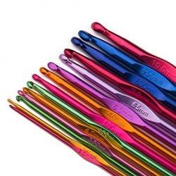 Tri(knit)é Crochets aluminium arc-en-ciel