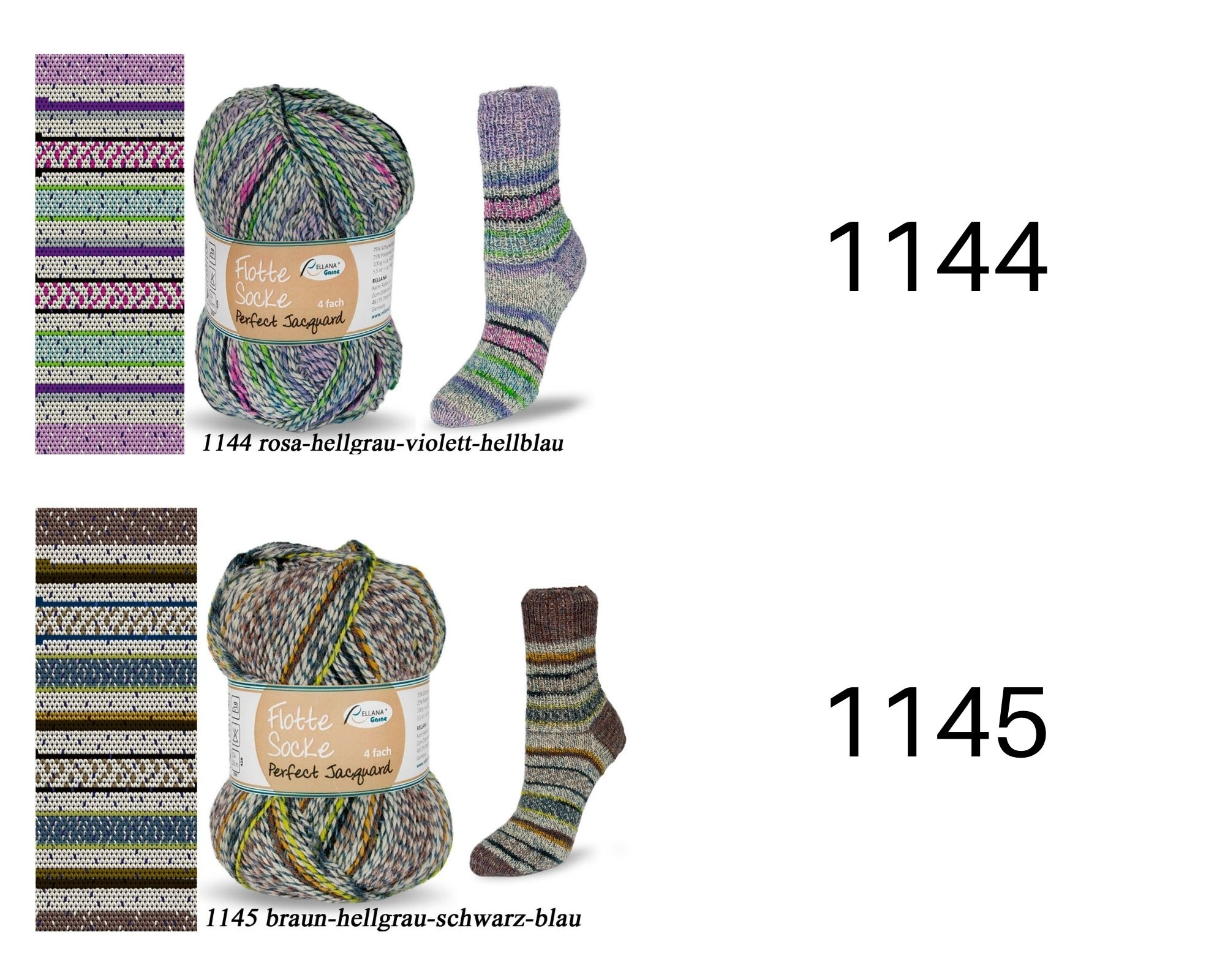 Rellana Rellana Flotte Socke Perfect Jacquard