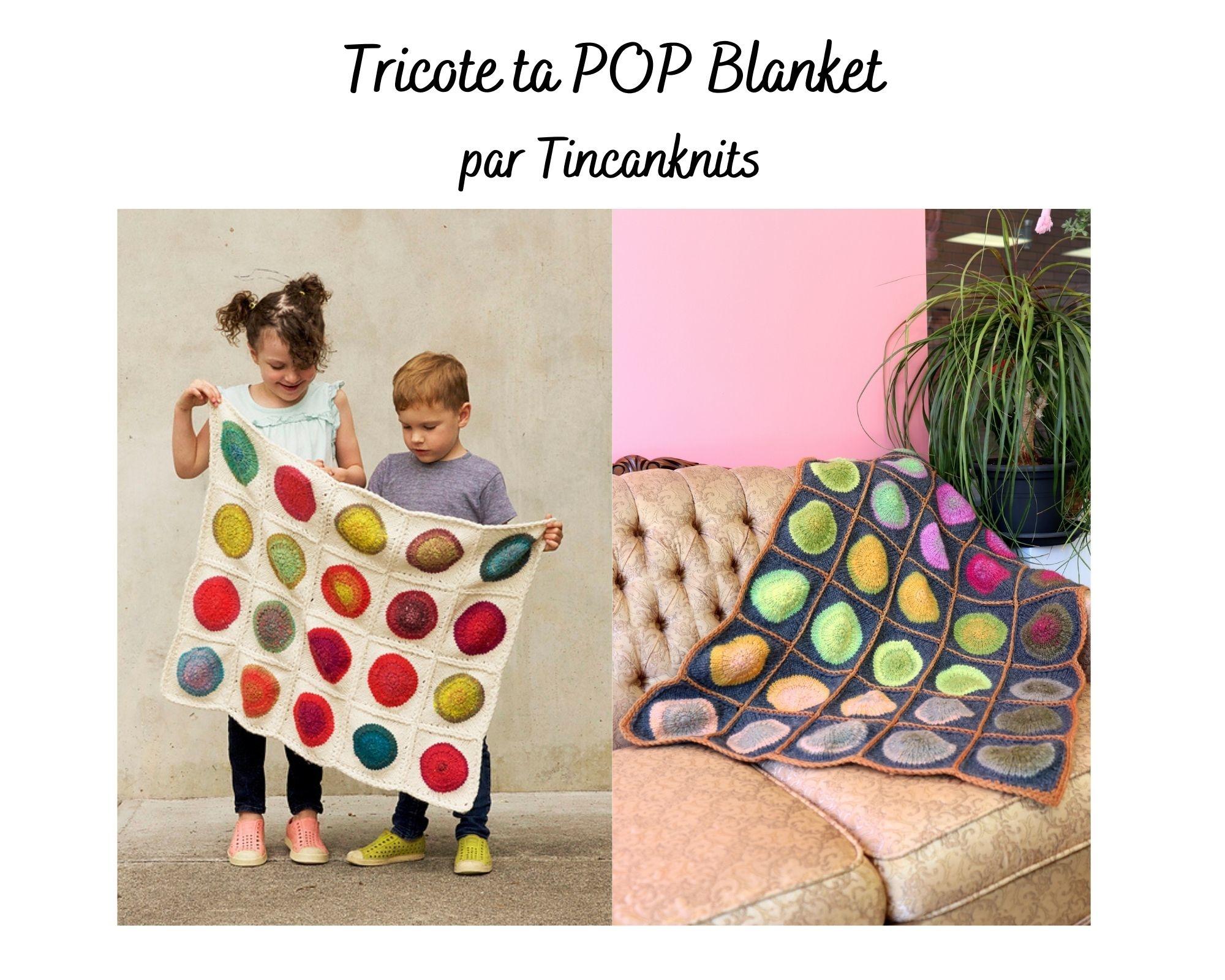 Tricote ta Pop Blanket 35 carrés