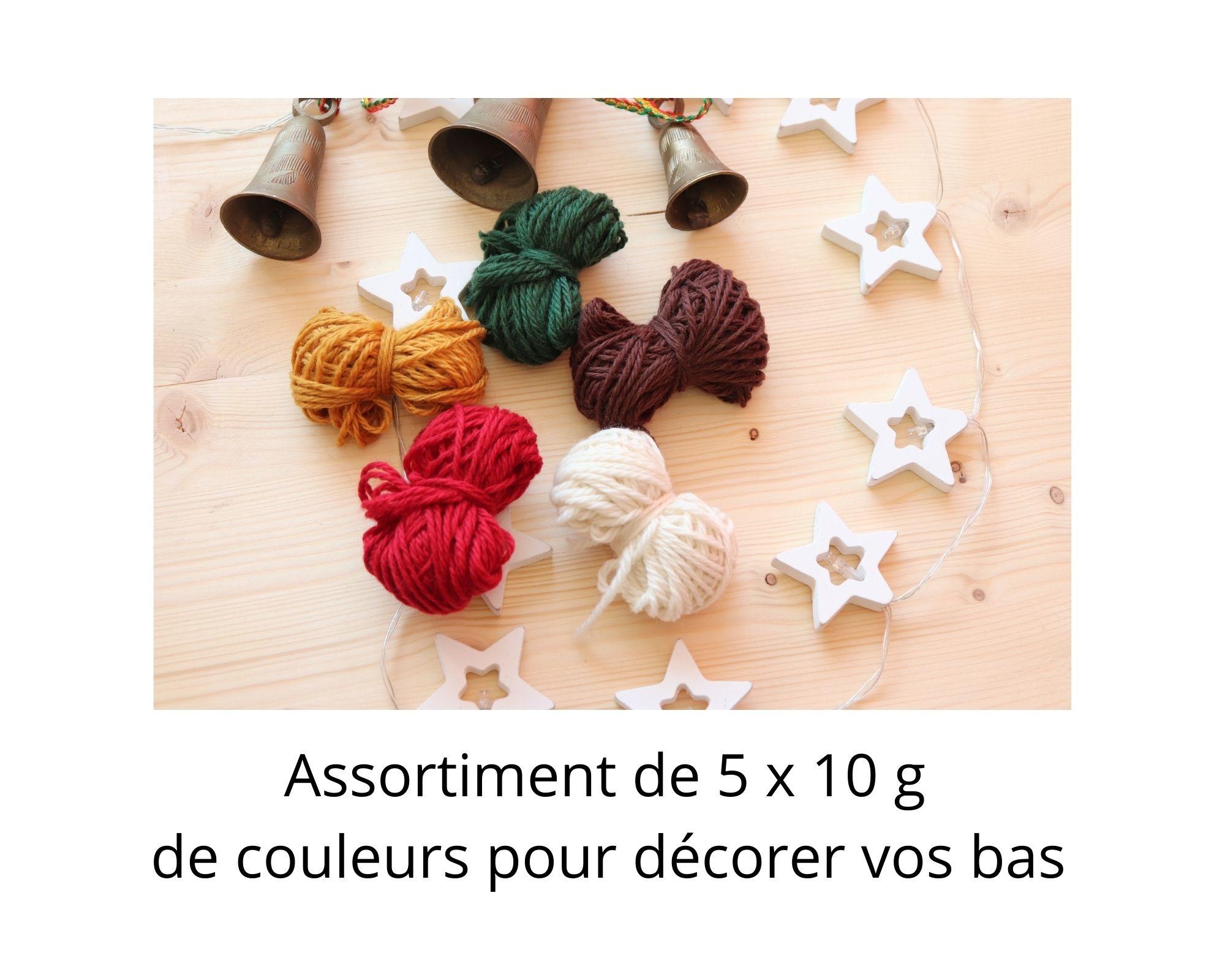La Maison Tricotee Je tricote mon Bas de Noël