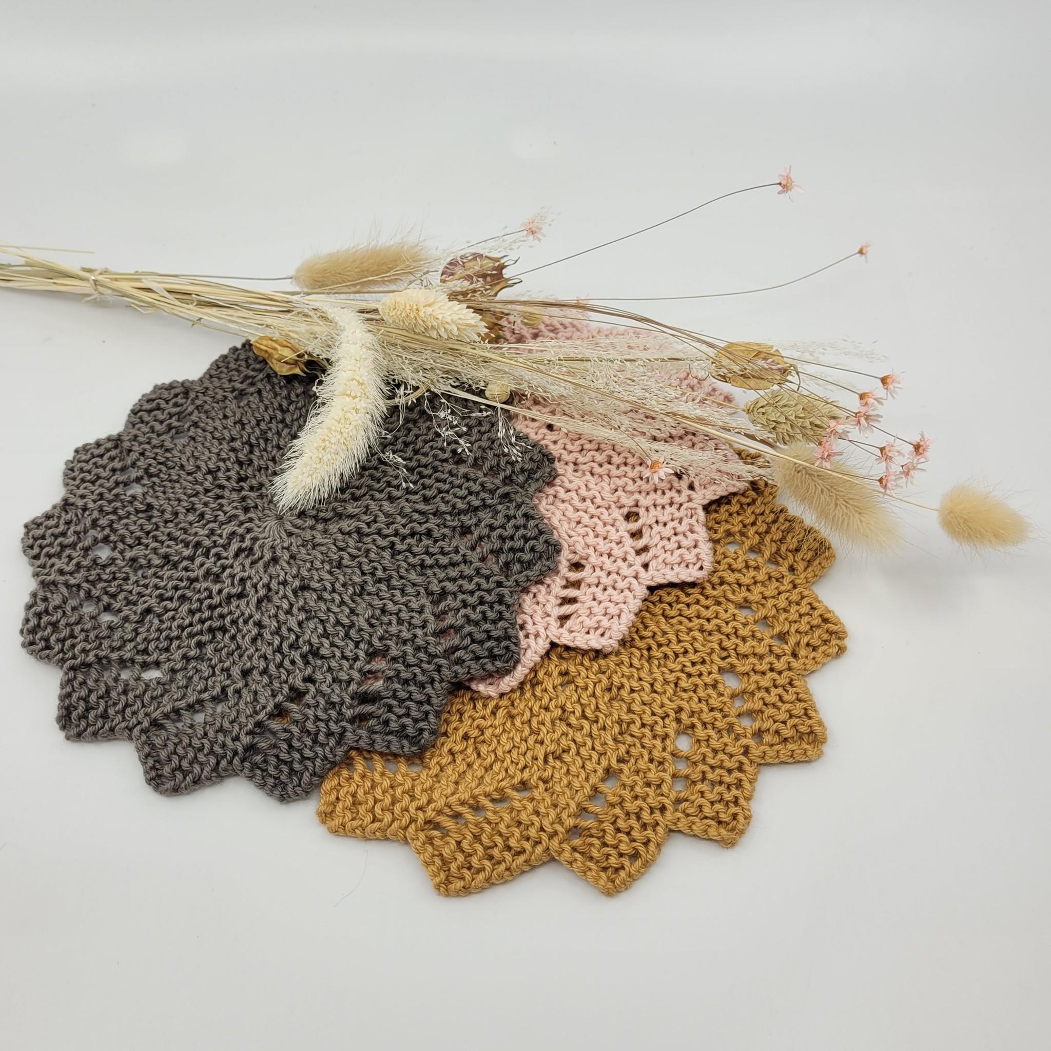 Je tricote mon temps des fêtes, les débarbouillettes