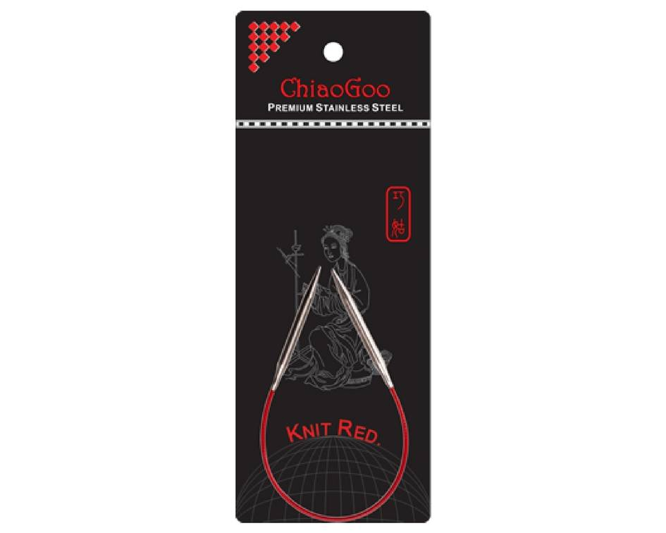 Chiaogoo ChiaoGoo aiguilles circulaires fixes Knit Red et Red Lace