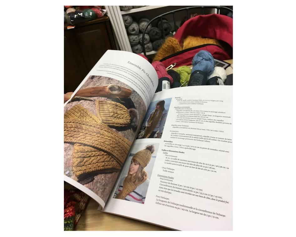 Marie-Christine Lévesque Fleuve St-Laurent -livre de tricot