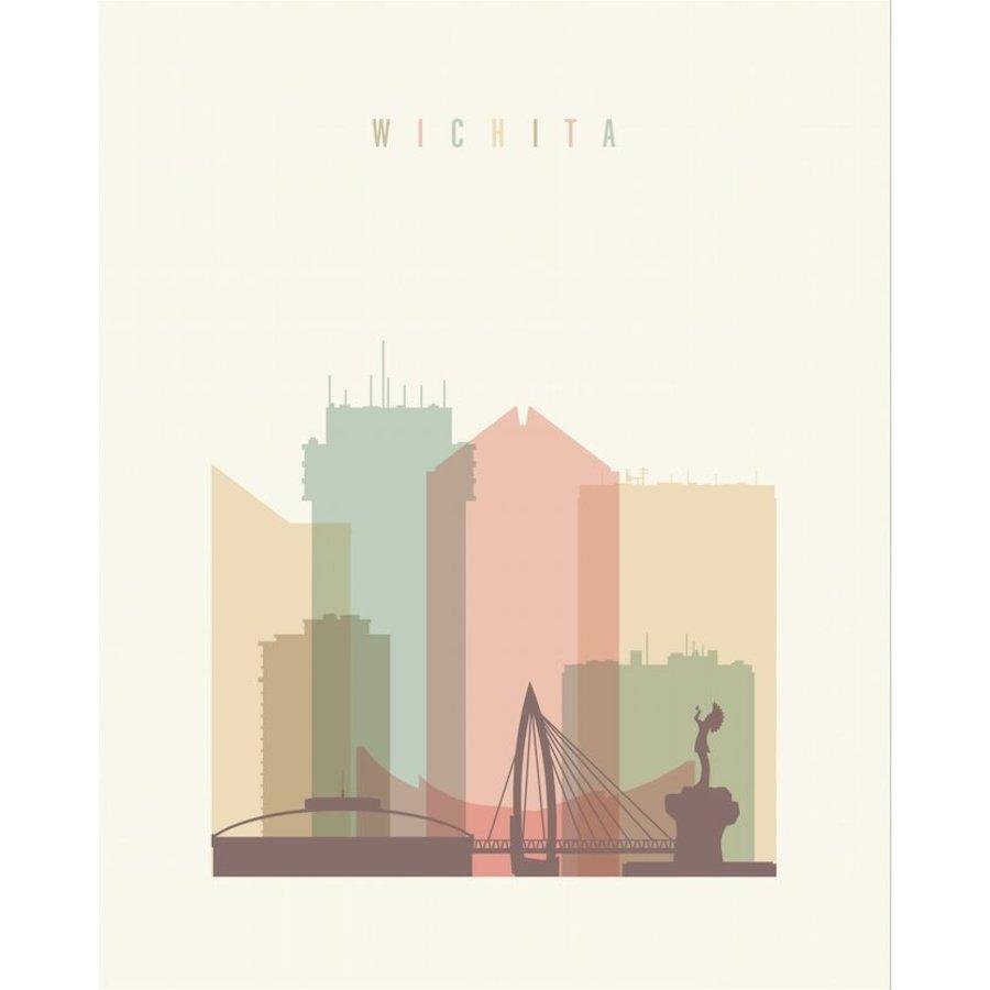 Wichita Pastel Skyline - 14x18