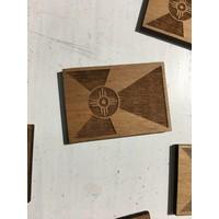 Wooden Flag Magnet