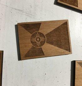 Gary Kline Wooden Flag Magnet