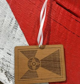 Gary Kline Wooden Flag Ornament