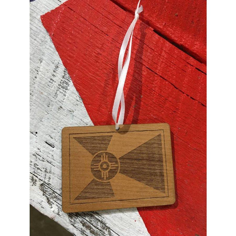 Wooden Flag Ornament