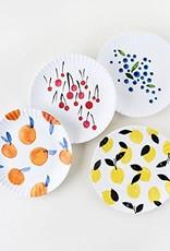 """Onehundred80degrees Fruit """"Paper"""" Plates 7.5""""/Set of 4"""