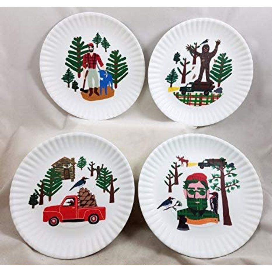 "Northwoods ""Paper"" Plate 9""/Set of 4"