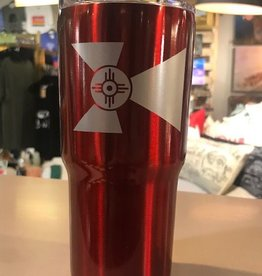 The Workroom 20 oz Wichita Flag Double Wall Tumbler With Vacuum Sealer