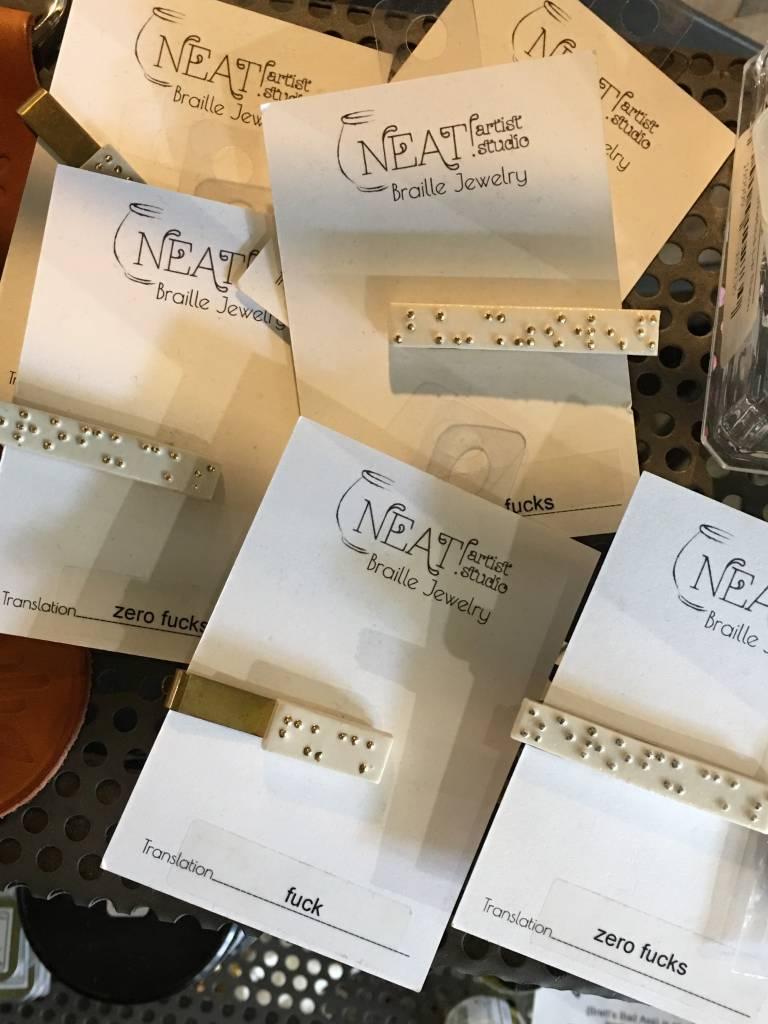 Neat Artist Studio Braille Tie Clip