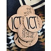 Round Cork ICT Coasters