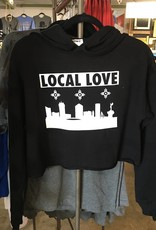 Liv+Work Liv+Work Local Love: Black Crop Hoodie
