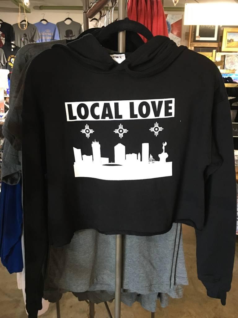 Liv+Work Liv+Work Local Love: Black Crop Hoodie