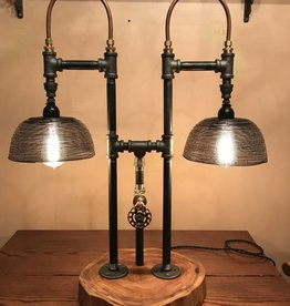 "The Woodcutter ""Turn me on"" Steam Punk Lamp"