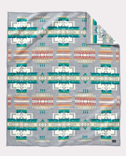 Pendleton Chief Joseph Robe Blanket-Gray