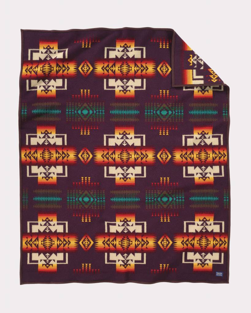Pendleton Chief Joseph Robe Blanket-Maroon