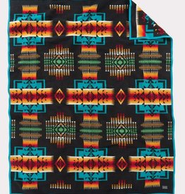 Pendleton Chief Joseph Robe Blanket-Black