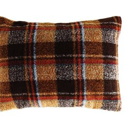 Creativeco-op Fabric Pillow, Multi Color Plaid w/insert
