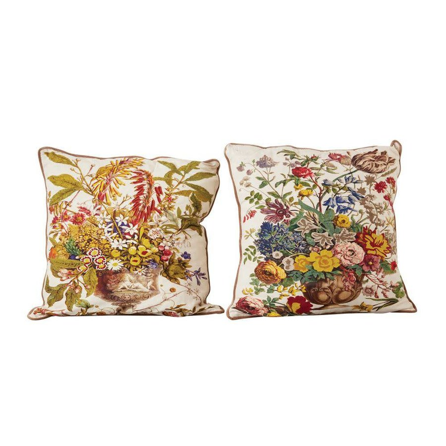 """26"""" Square Cotton Printed Pillow w/ insert"""