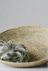 Creativeco-op hand woven moroccan low basket w/handles