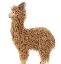 Creativeco-op Handmade Faux Fur Standing Llama, Brown