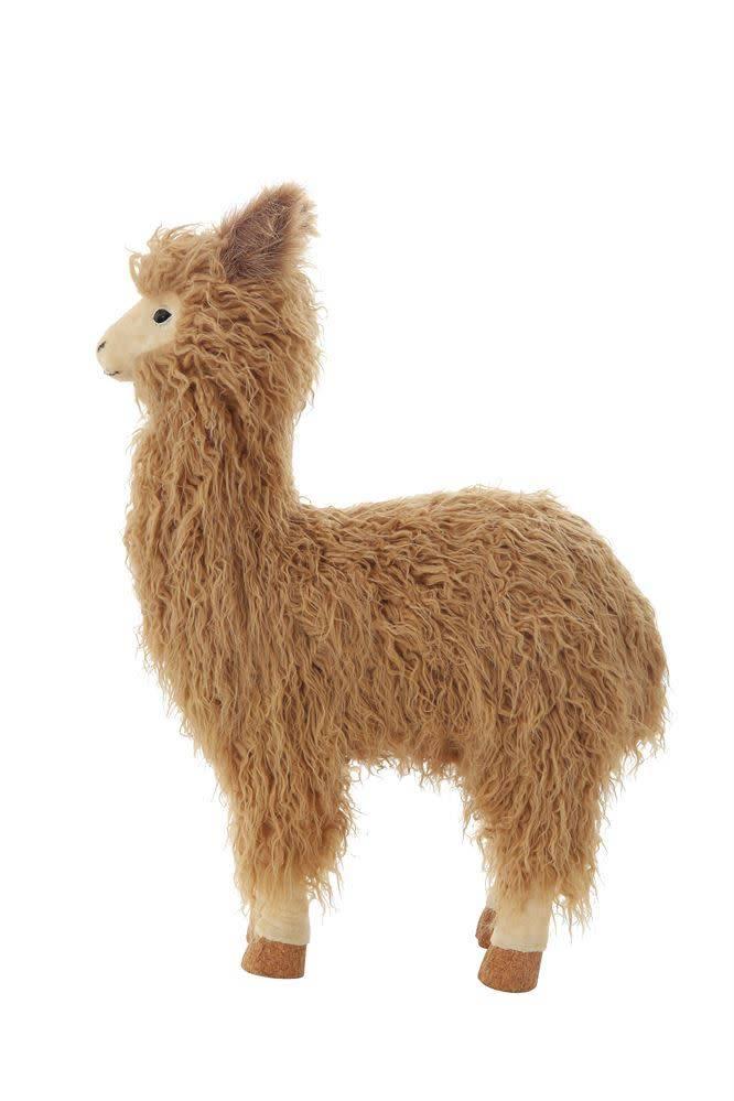 Creativeco-op Llama Handmade Faux Fur
