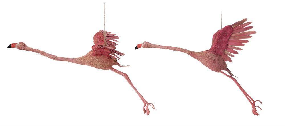 Creativeco-op Pink Flamingo Handmade Natural Grass