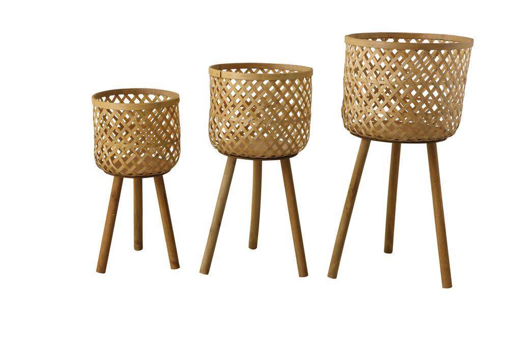 Creativeco-op Large Woven Bamboo Basket