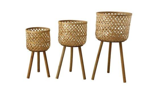 Creative Co-Op Medium Woven Bamboo Basket