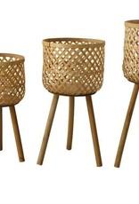 Creativeco-op Small Woven Bamboo Basket