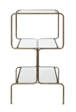 Bloomingville 3-Tier Metal & Glass Accent Table