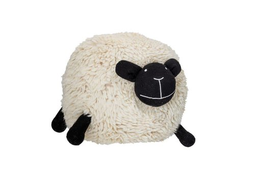 Bloomingville Wool Blend Sheep Pouf, Cream
