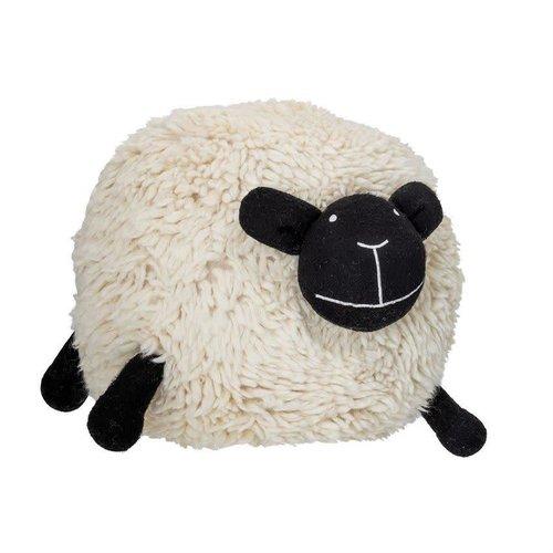 "Bloomingville 22"" Round x 20""H Wool Blend Sheep Pouf, Cream"