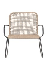 "Bloomingville Metal & Woven Rope Rocking Chair, Natural w/ Black29-1/2""L x 35-1/2""W x 34""H"
