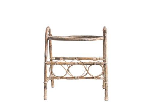 Bloomingville Bamboo & Glass Table w/ Shelf