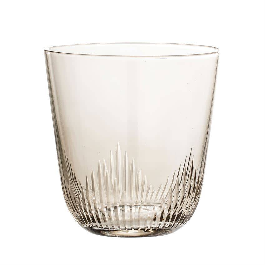 Bloomingville 12 oz. Drinking Glass, Smoke S/4