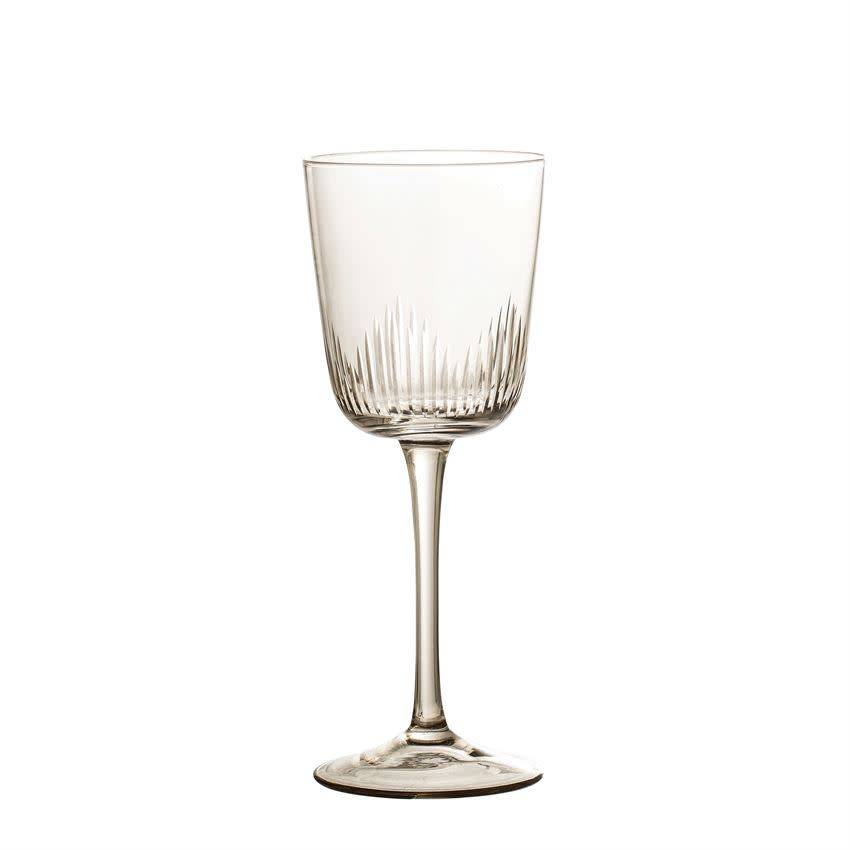 Bloomingville 12 oz. Wine Glass, Smoke