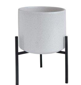 Bloomingville Stoneware Flower Pot w/ Metal Stand