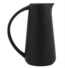 Bloomingville 48 oz. Stoneware Pitcher, Matte Black