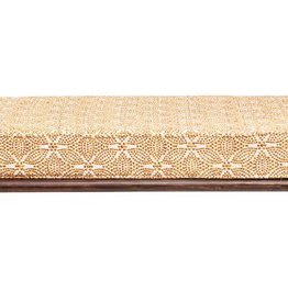Bloomingville Mango Wood Bench w/ Mustard Patterned Cushion